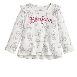 "NWT Disney Jumping Bean 18m ""Bonjour"" swing tee"